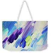 Colorful Rain Fragment 2. Abstract Painting Weekender Tote Bag