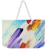 Colorful Rain Fragment 3. Abstract Painting Weekender Tote Bag
