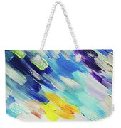 Colorful Rain Fragment 5. Abstract Painting Weekender Tote Bag