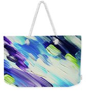 Colorful Rain Fragment 6. Abstract Painting Weekender Tote Bag