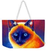 Colorful Siamese Cat Weekender Tote Bag