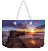 Colorful Sunset At Toes Beach Weekender Tote Bag by Andy Konieczny
