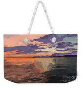 Colorful Sunset Over The Gulf Of Mexico Weekender Tote Bag