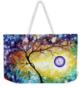 Colorful Whimsical Original Landscape Tree Painting Purple Reign By Megan Duncanson Weekender Tote Bag