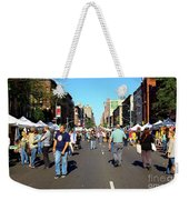 Columbus Day On Amsterdam Ave. Upper West Side, New York 2008 Weekender Tote Bag