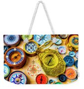 Compass And Compass Rose Weekender Tote Bag