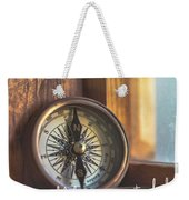 Compass Time Quote Weekender Tote Bag by Jamart Photography
