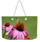 Cone Flower Butterfly At Rest Weekender Tote Bag