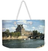 Contemplating The Louvre Weekender Tote Bag