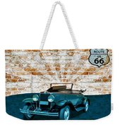 Convertible Vintage Car Weekender Tote Bag
