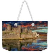 Conwy Castle Sunset Weekender Tote Bag by Adrian Evans