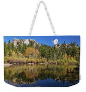 Cool Calm Rocky Mountains Autumn Reflections Weekender Tote Bag