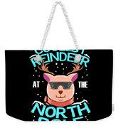 Coolest Reindeer At The North Pole Weekender Tote Bag