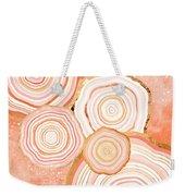 Coral Agate Abstract Weekender Tote Bag