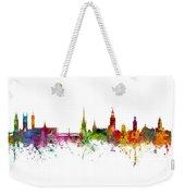 Cork, Stockholm And Gothenburg Skyline Mashup Weekender Tote Bag