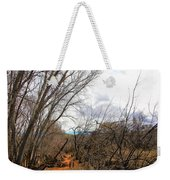 Cottonwood Arizona Jail Trail Trees Path Sky Clouds 5229 Weekender Tote Bag