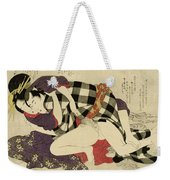 Courtesan With A Client, 1799 Weekender Tote Bag