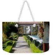 Painted Texture Courtyard Landscape Getty Villa California  Weekender Tote Bag