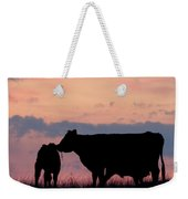 Cow And Calves After Sunset 01 Weekender Tote Bag by Rob Graham