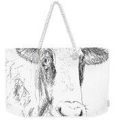 Cow Doodle Weekender Tote Bag by Monique Faella
