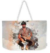 Cowboy Flanery Weekender Tote Bag