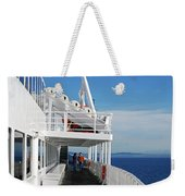 Cozy Walk -  Painterly Ferry To Victoria Weekender Tote Bag