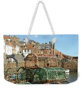Crail Harbour And Lobster Pots Weekender Tote Bag