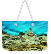 Crazy Rock Formations In New Mexico Weekender Tote Bag