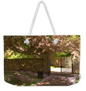 Crichton Church Entrance Gate And Tree In Pink Bloom Weekender Tote Bag