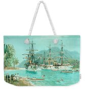 Cruiser And Gunboat Hoist On Ponape The German Flag Weekender Tote Bag