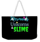Cute Mermicorn Unicorn Mermaid Slime Birthday Weekender Tote Bag