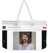 Cutv News Radio Welcomes Back Dr. Victoria Mondloch Weekender Tote Bag