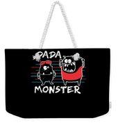 Dada Monster Cute Monster Cartoon For Kids And Dad Dark Weekender Tote Bag