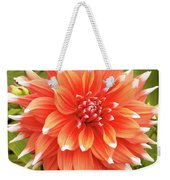 Dahlia Bloom Flower Weekender Tote Bag