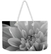 Dahlia In Monochrome Weekender Tote Bag