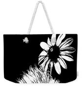 Daisy And Thistle Black And White Weekender Tote Bag