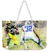 Dallas Cowboys Against Green Bay Packers. Weekender Tote Bag