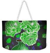 Dark And Delicious Roses  In Green Weekender Tote Bag