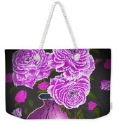 Dark And Delicious Roses In Pink Lilac Weekender Tote Bag