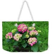 Decorative Floral Pink Hydrangeas C031619 Weekender Tote Bag by Mas Art Studio