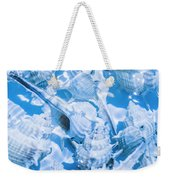 Deep Blue Weekender Tote Bag