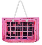 Deep Pink Train Engine Vent Square Format Weekender Tote Bag