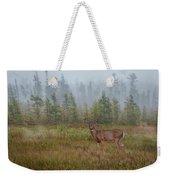 Deer Mist Fog Landscape Weekender Tote Bag by Patti Deters