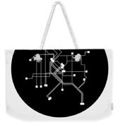 Denver Black Subway Map Weekender Tote Bag