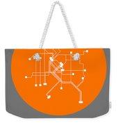 Denver Orange Subway Map Weekender Tote Bag