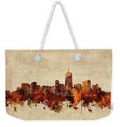 Denver Skyline Sepia Weekender Tote Bag