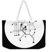 Denver White Subway Map Weekender Tote Bag