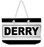 Derry City Nameplate Weekender Tote Bag