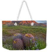 Desert Bluebell In Spring With Barrel Weekender Tote Bag