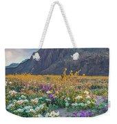 Desert Sand Verbena, Desert Sunflower Weekender Tote Bag